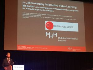 Microsurgery Interactive Video Learning Modules  DGPRÄC 2016 in Kassel, Germany
